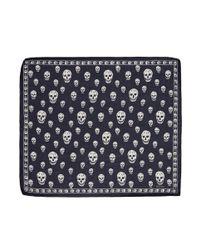 Alexander McQueen | Blue Skull-print Chiffon Scarf | Lyst