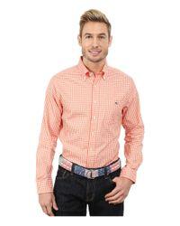 Vineyard Vines | Orange Bay Road Gingham Slim Tucker Shirt for Men | Lyst