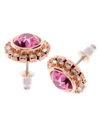 Ted Baker | Pink Sully Crystal Chain Rose Earrings | Lyst