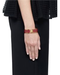 Alexander McQueen - Red Skull Enamel Bangle - Lyst