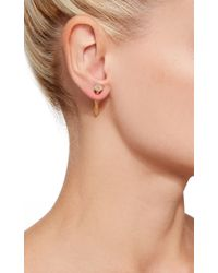 Lauren Klassen - Metallic Nail Earring With Diamonds - Lyst