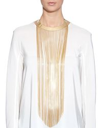 Balmain | Metallic Fringe-Front Necklace | Lyst