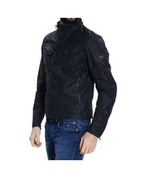 Matchless - Blue Down Jacket New Kensigton Coated Nylon Sahariana Jacket for Men - Lyst