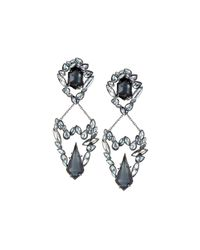 Alexis Bittar - Metallic Chandelier Clip Earrings W/ Rhinestones - Lyst