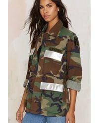 Nasty Gal - Multicolor After Party Vintage Troop Nasty Army Jacket - Lyst