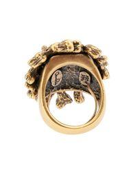 Oscar de la Renta - Metallic Coral-Branch Teardrop Ring - Lyst