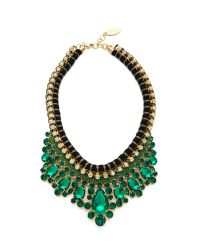 Adia Kibur | Green Crystal Rope Necklace - Emerald | Lyst