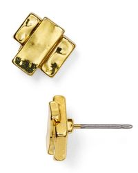 Ralph Lauren | Metallic Lauren Layered Bar Stud Earrings | Lyst
