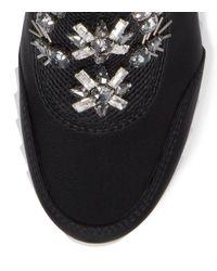 Tory Burch - Black Rosas Embellished Sawtooth Slip-on Sneaker - Lyst