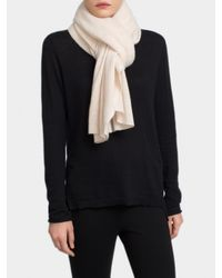 White + Warren - Pink Cashmere Two Way Angled Poncho - Lyst