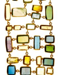 Pippa Small - Green Tourmaline and Yellow-gold Bracelet - Lyst