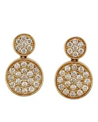 Effy | Metallic Trio 14kt Yellow Gold And Diamond Drop Earrings | Lyst