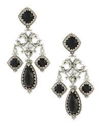 Konstantino | Ornate Black Onyx Earrings | Lyst