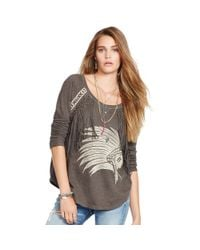 Denim & Supply Ralph Lauren - Natural Fringed French Terry Top - Lyst