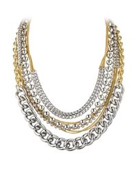 Dyrberg/Kern | Metallic Dyrberg/kern Multi-row Chain Necklace | Lyst