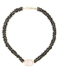 Isabel Marant - Black Square Stone Necklace - Lyst