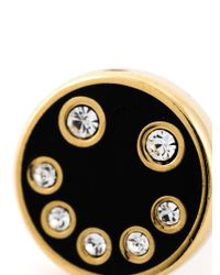 Marc By Marc Jacobs | Black Enamel Smiley Studs | Lyst