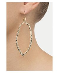 Alexis Bittar | Metallic Kinetic Crystal Encrusted Tear Drop Earrings - Gold | Lyst