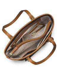MICHAEL Michael Kors | Brown Jet Set Snap Pocket Tote Bag | Lyst