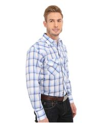 Roper - 0296 Blue & White Plaid for Men - Lyst