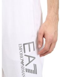 Emporio Armani - White Cotton Jogging Pants for Men - Lyst
