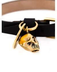Alexander McQueen | Black Skull Charm Bracelet for Men | Lyst
