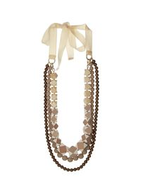 Weekend by Maxmara - Natural Retina Necklace - Lyst