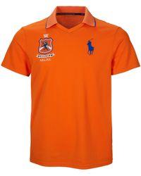 Polo Ralph Lauren - Orange Polo Sport Usa Pique Polo for Men - Lyst