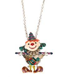 !item - Multicolor Clown Pendant Necklace - Lyst