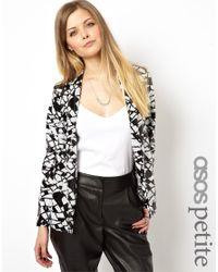 ASOS - Black Exclusive Mono Sequin Jacket - Lyst