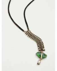Free People | Green Supernova Lariat Necklace | Lyst