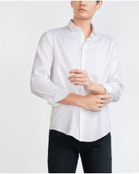 Zara | White Structured Shirt for Men | Lyst