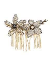 Tataborello - Metallic Brooch - Lyst