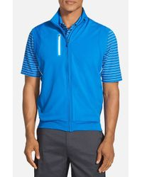 Bobby Jones | Blue 'xh20 Rtj2' Wind & Water Resistant Four-way Stretch Golf Vest for Men | Lyst