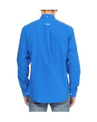 Acne Studios - Blue Isherwood Button-Down Collar Cotton-Poplin Shirt for Men - Lyst