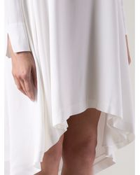 Adam Lippes - White Trapeze Dress - Lyst