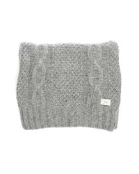 SELECTED | Gray Mottled-grey Shkenny Cable-knit Scarf for Men | Lyst