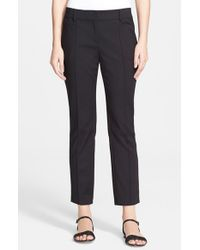 St. John | Black 'jennifer' Stretch Micro Ottoman Capri Pants | Lyst