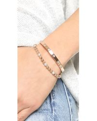 Michael Kors - Metallic Pave Adjustable Bracelet - Gold/clear - Lyst