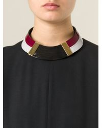 Marni - Red Choker Necklace - Lyst