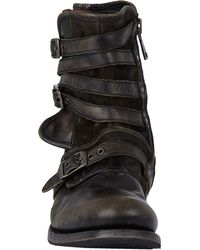 John Varvatos - Gray Engineer Triple-buckle Boots for Men - Lyst
