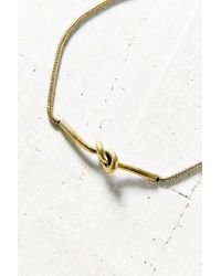 Urban Outfitters - Metallic Hampton Knot Necklace - Lyst