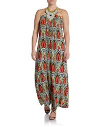 T-bags - Multicolor Tribalprint Halter Maxi Dress - Lyst