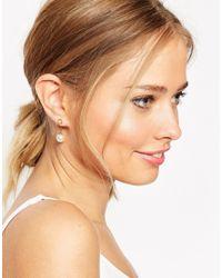 ASOS | Metallic Open Circle Through Earrings | Lyst
