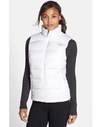 55ff17dfcd2d Lyst - The North Face Nuptse 2 Down Vest in White