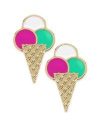 kate spade new york | New York Goldtone Multicolor Sweet Treat Ice Cream Stud Earrings | Lyst