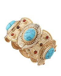 R.j. Graziano | Blue Five Piece Beaded Bangle Set | Lyst