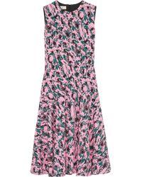 Marni | Multicolor Printed Crepe Dress | Lyst