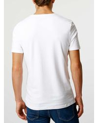 TOPMAN - White Muscle Fit T-shirt for Men - Lyst
