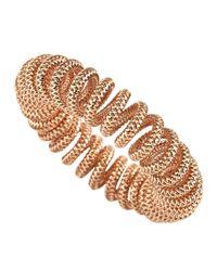 Roberto Coin | Metallic 18k Rose Gold Spring Coil Bracelet | Lyst
